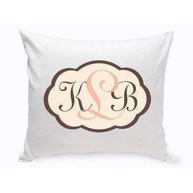 Baby Girl Chevron Personalized Throw Pillow