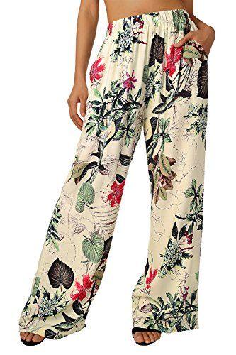 BaiShengGT Femme Pantalon de Sport Longue Lâche Fitness Yoga Gym Jogging  Pantalon Abricot-Fleur XL 45411880985