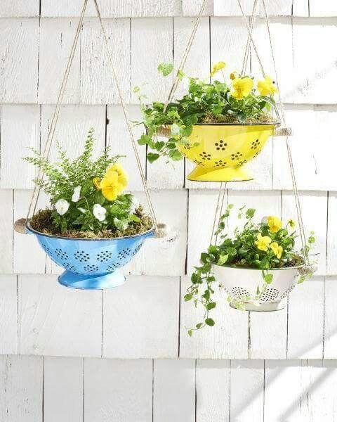 Collander flowerpot