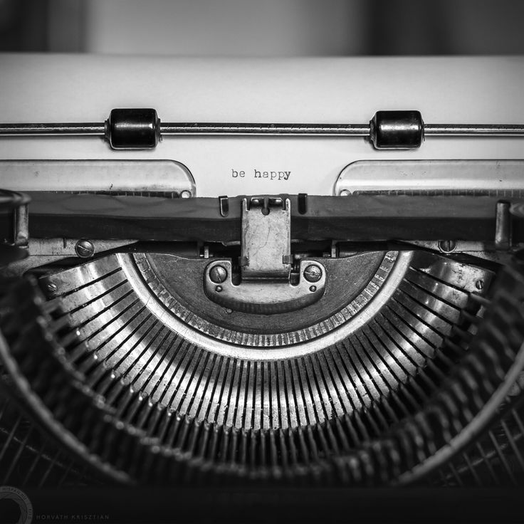 The happy typewriter says...