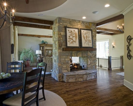 Double sided fireplace double sided fireplaces - Fireplace between two rooms ...