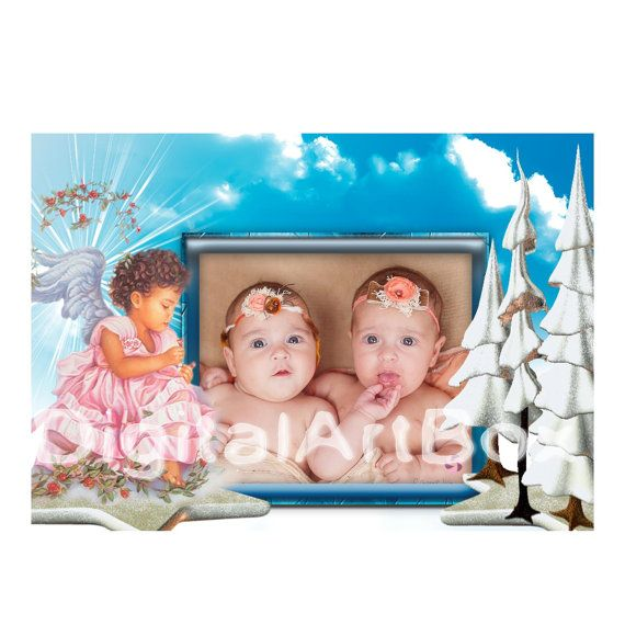 Custom Photo Christmas CardTwins First Christmas by DigitalArtBox