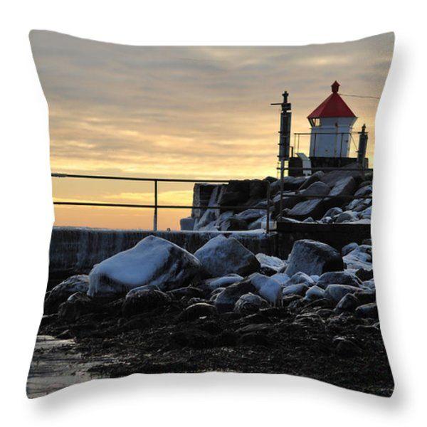 Throw Pillow featuring the photograph Fyllinga Lighthouse by Randi Grace Nilsberg