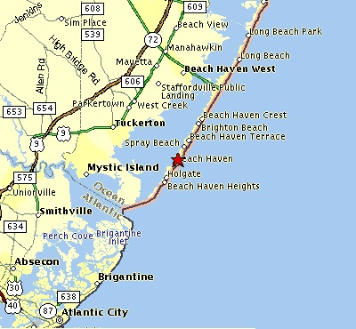 Map Of Long Beach Island Nj Towns