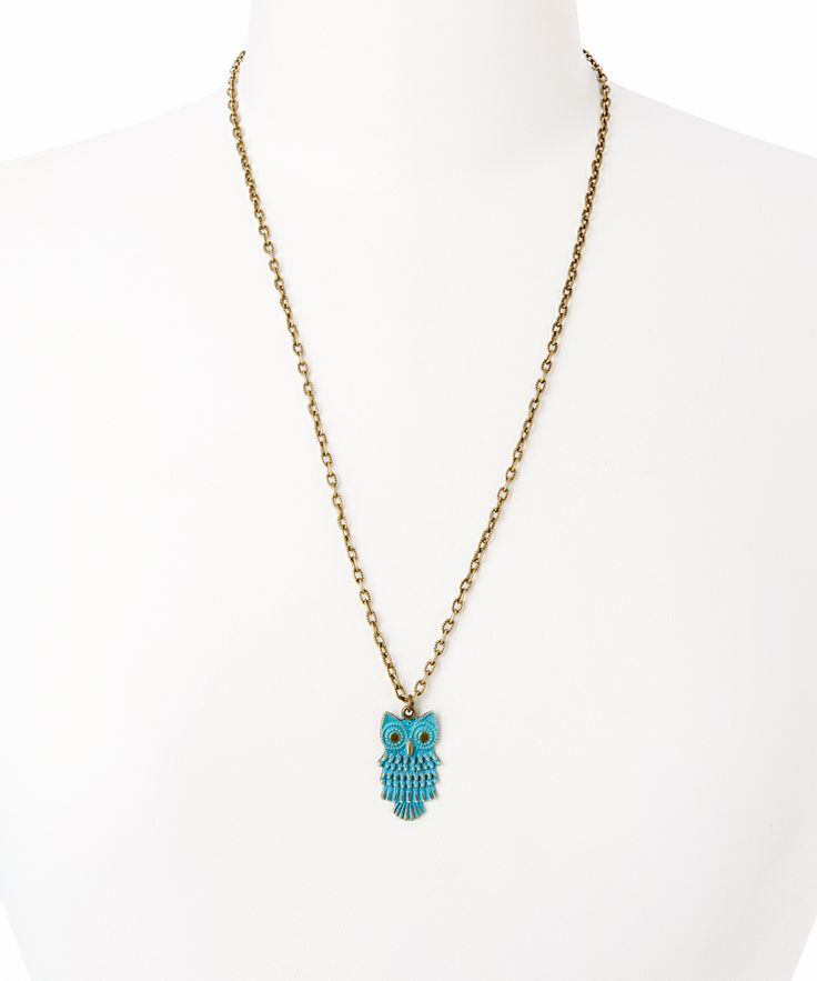 Brass & Narwhal Owl Pendant Necklace | Daily deals for moms, babies and kids