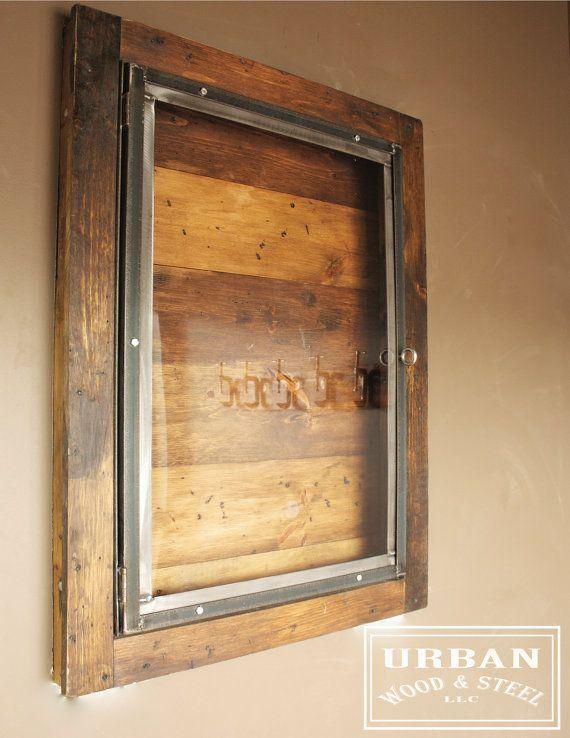 Industrial Display Case by urbanwoodandsteel on Etsy, $375.00