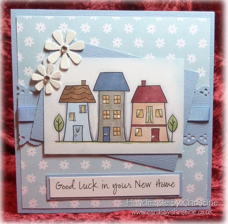 Amazing Card Making Ideas New Home Part - 13: Well - It Was A Forced Issue Really. My Daughter Wanted A New Home Card For  A Friend, So No Fairy :( But It Was Nice To Do Something Di.