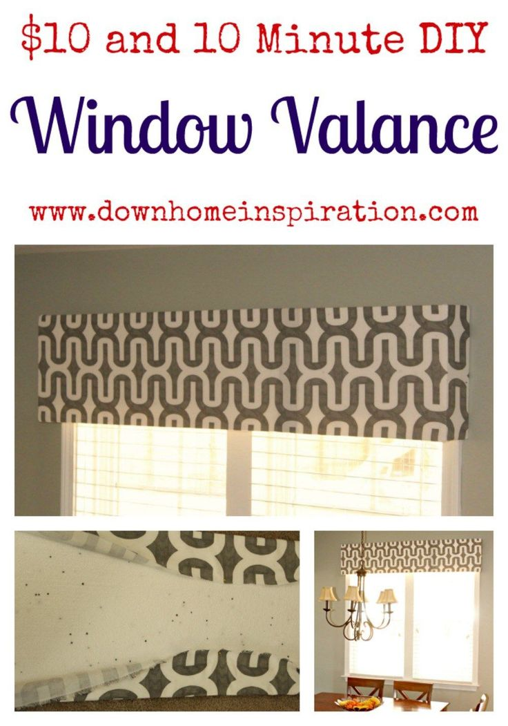 Quick and easy DIY window valances
