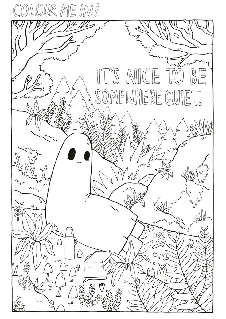 Thesadghostclub Here S Another Page From Our Upcoming Colouring Book We Can T Wait To See How You All Col Coloring Books Cute Coloring Pages Coloring Pages