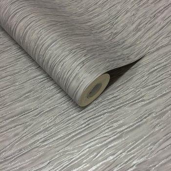 I Love Wallpaper™ Crushed Silk Plain Glitter Wallpaper Grey / Silver (ILW014) - I Love Wallpaper™ from I love wallpaper UK