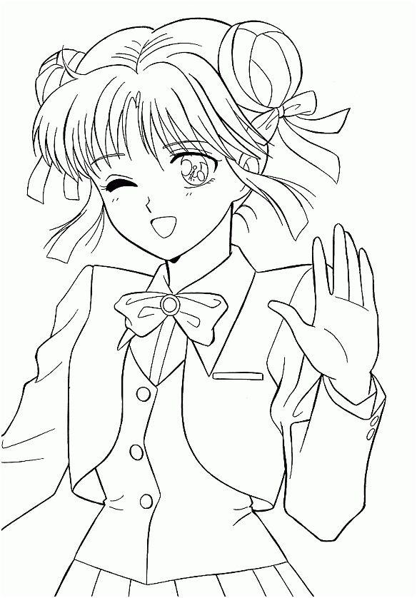 Coloriage Manga Kawaii A Imprimer