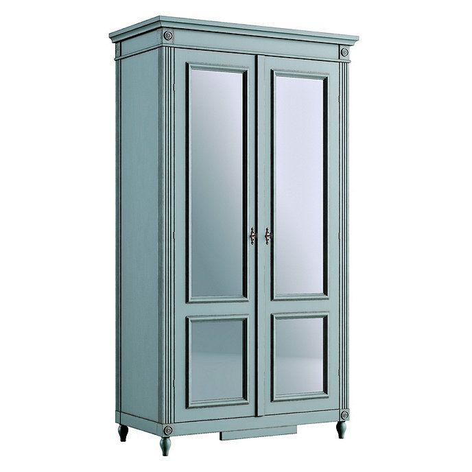 Casa Florentina Louis Xvi Armoire With Mirrored Doors Stocked Ballard Designs Armoire Ballard Designs Painted Armoire