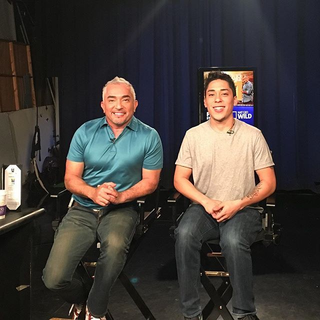 So proud of my boy Andre. This is his first media tour to promote his new show #PetTalk, which premieres after the new season of Cesar 911 this Friday.