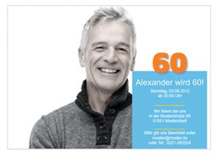 Einladungskarten 60 Geburtstag : Einladungskarten 60 Geburtstag Selber  Basteln   Einladungskarten Online   Einladungskarten Online