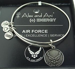 Alex and Ani Air Force Expandable Bracelet Energy Russian Silver