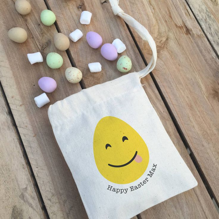 'Easter Emoji' Easter Bag With Sweets @notonthehighst