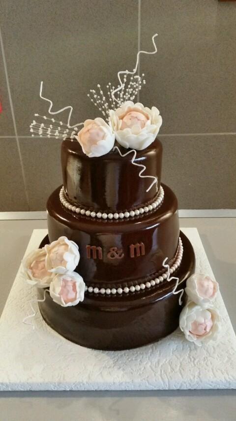 S pivoniami , svadobné torty | Tortyodmamy.sk