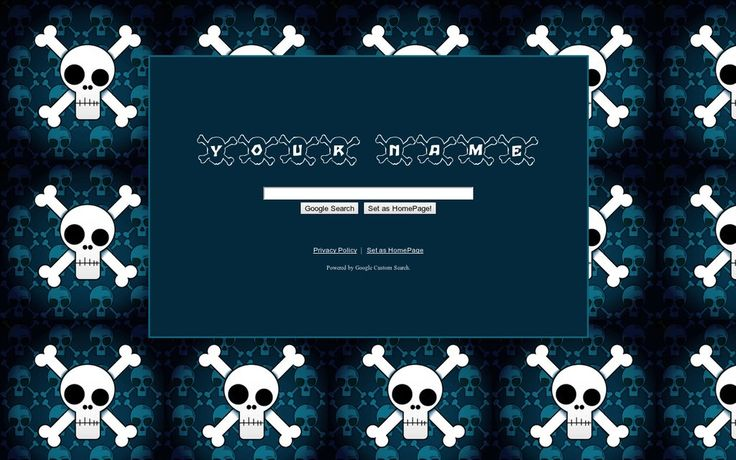 Blue Skulls Theme from ShinySearch