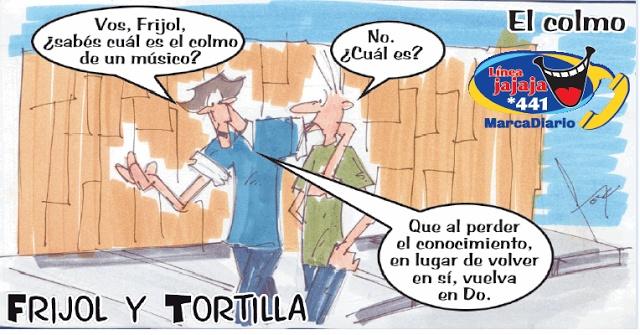 Frases, chistes, anécdotas, reflexiones y mucho más.: Chiste Frijol y Tortilla, El colmo de un músico, Nuestro Diario Guatemala.