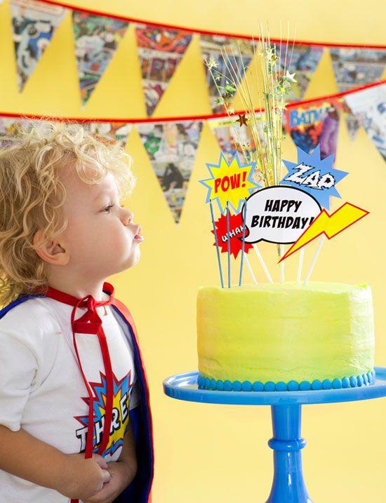 superhero party cake topper