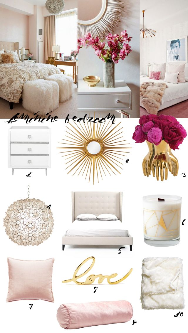 Made By Girl: DESIGN: Feminine Bedroom Decor