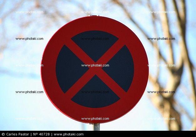 Prohibido estacionar, señal de tráfico