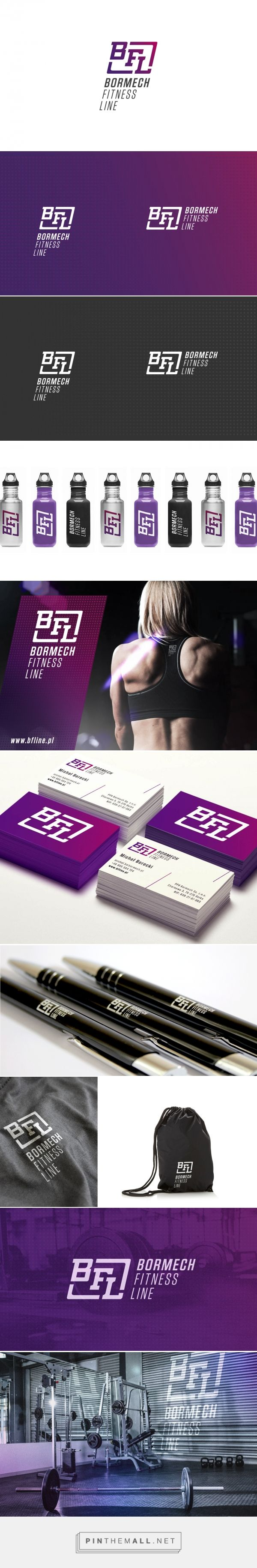 Bormech Fitness Line :: Corporate identity and branding - created via https://pinthemall.net