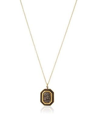 60% OFF Linda Levinson Rectangular Coin Pendant Necklace