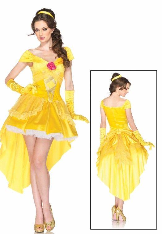 womens disney enchanting belle costume plus a yellow petticoat