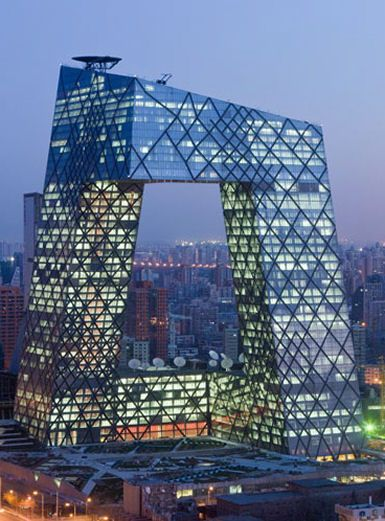 Beijing CCTV Buildingtower.Design by OMA (Rem Koolhaas & Ole Scheeren)