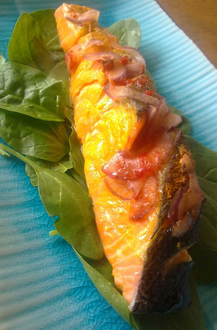 Recipe of the Week - Indonesian Style Salmon One serve of salmon with exotic flavors