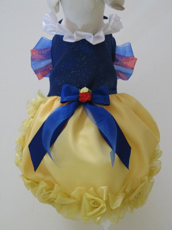 Need to find someone to make this for Sophie for Halloween! - Snow White Princess Dog Dress Custom Made