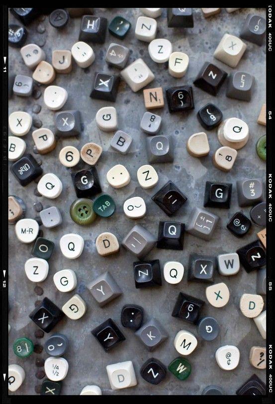 Magnets diy computer keys