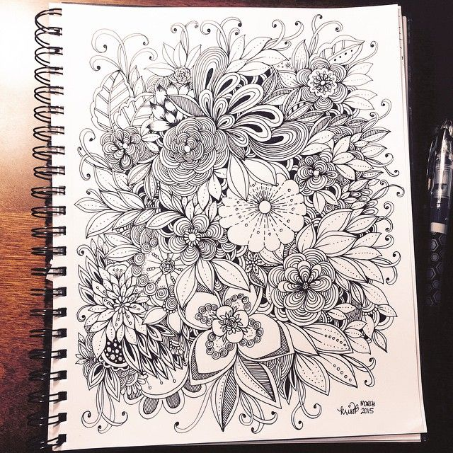 Flowers doodle page
