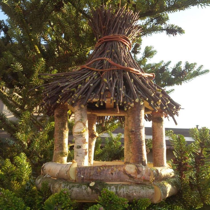 Birdhouse Ptačí budka z břízy