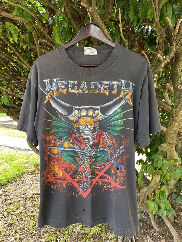 Megadeth rock tees vintage megadeth shirt countdown to