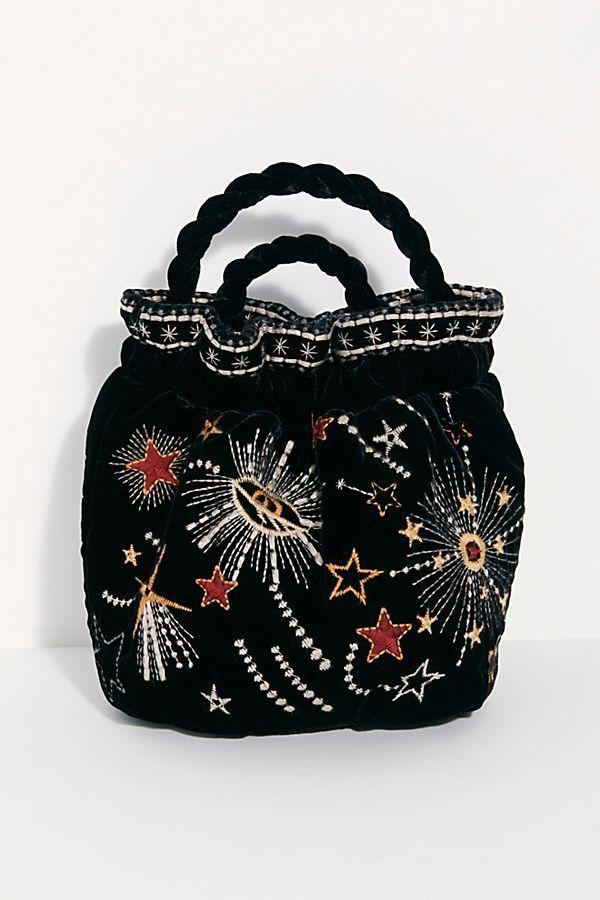 c4ba63170 Slide View 2: Callisto Velvet Pouch Leather Backpack Purse, Purses For Sale,  Purses