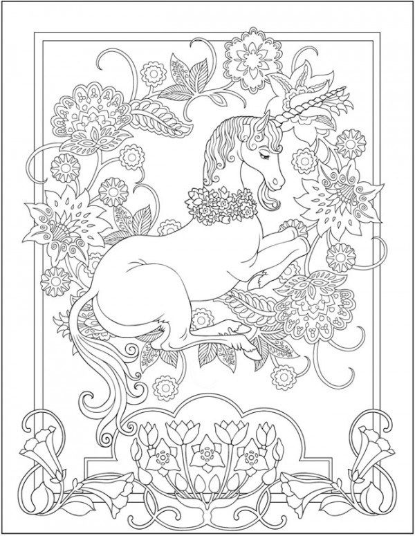 Download Unicorn Coloring Page