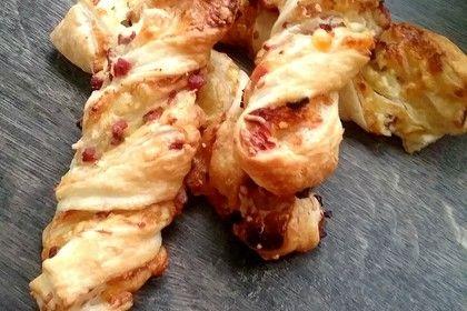 Blätterteig-Schinken-Käse-Stangen 1