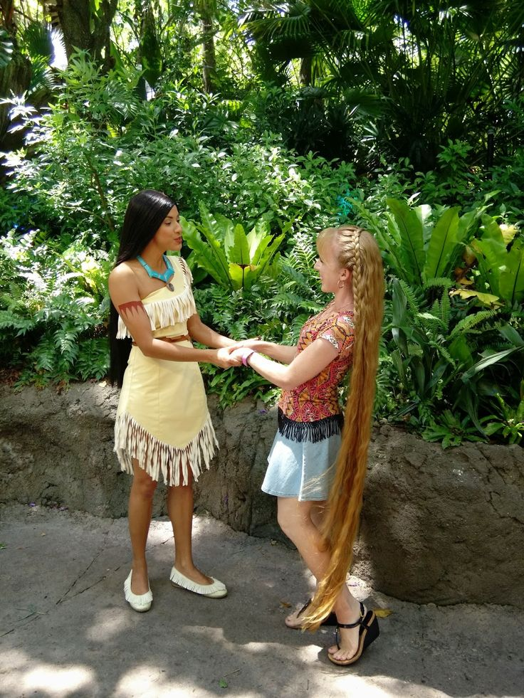 Braids & Hairstyles for Super Long Hair: VIDEO: Meeting Pocahontas at Disney World (and showing her my super long hair)