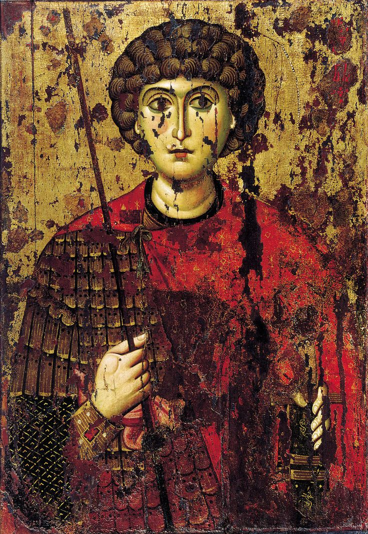 Icon of the Holy Great Martyr George the Trophy-Bearer from the iconostasis of The Cathedral of the Dormition in the Moscow Kremlin, 12th century