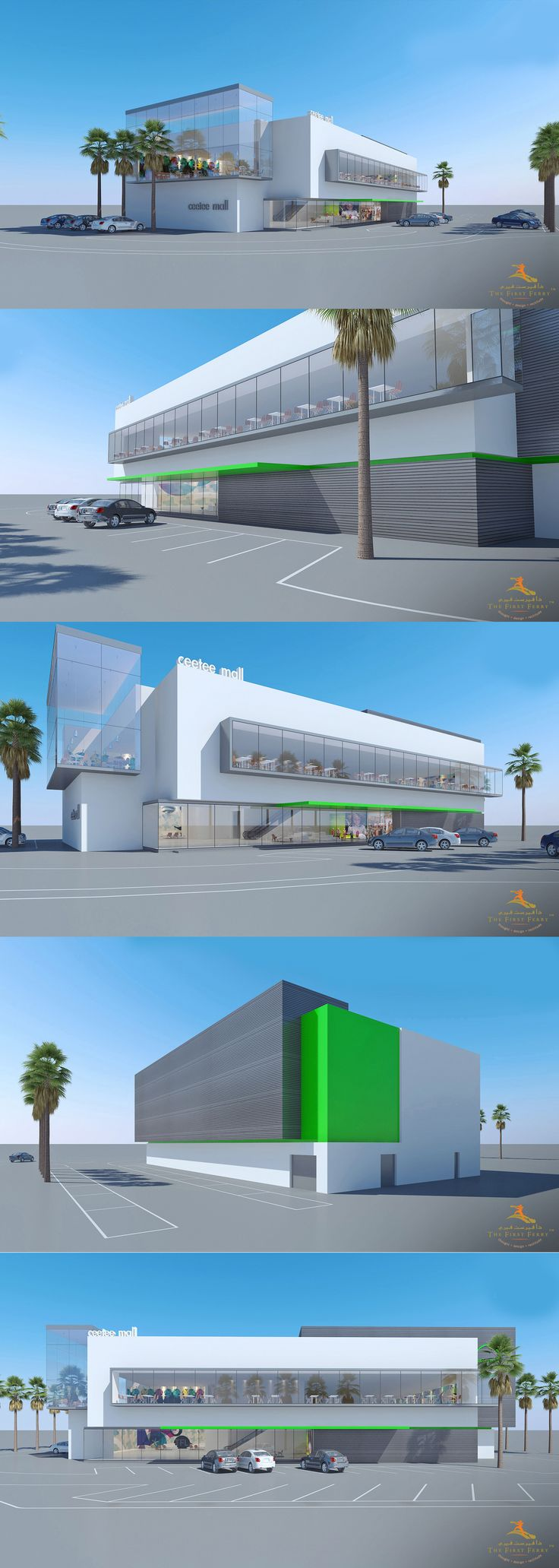 Here is an elegantly designed mall concept by #TheFirstFerry. This contemporary and progressive art is the representation of the future of architecture design and styling envisioned by the team.  http://www.thefirstferry.com  #Architecture #Art #MallConcept