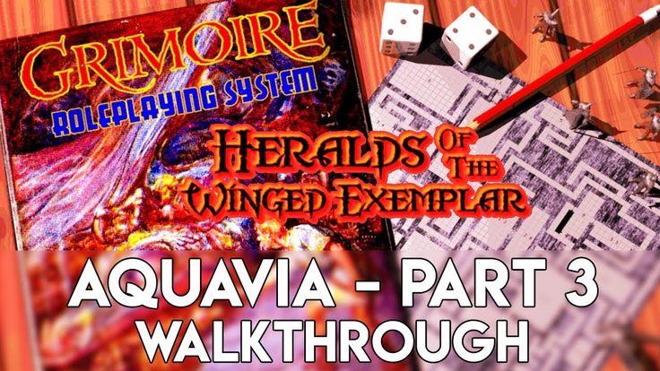 Grimoire Gameplay   Aquavia Part 3 Walkthrough - Retro Old School Dungeo...