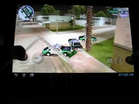 GTA Vice City gameplay on Asus Transformer tf300t (+playlist)