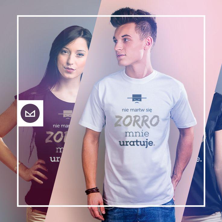 Nie martw się, zorro mnie uratuje #koszulkowo #fashion #tshirt #koszulki #clothes #shopping #ubrania #zakupy #camiloca