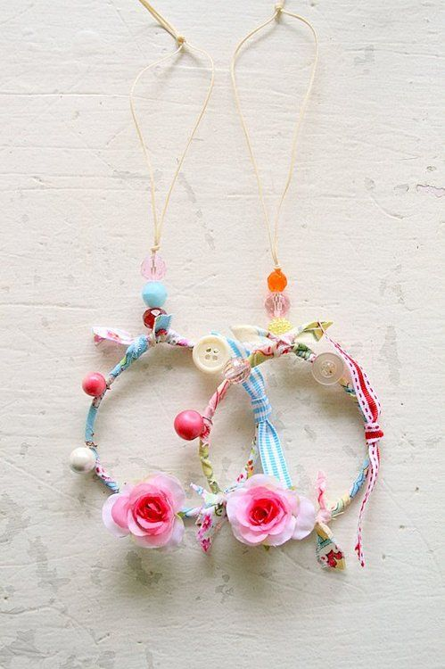 left over bits...decorate a little girls room or make party halo wreaths to wear...