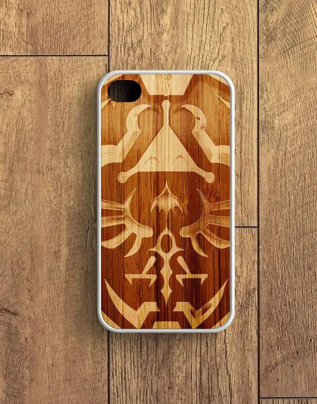 Zelda Link Hyrule Shield Wood Design iPhone 4 | 4S Case