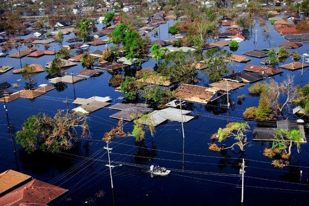 Northwest New Orleans near Pontchartrain Lake, after Hurricane Katrina, by Yann Athus-Bertrand