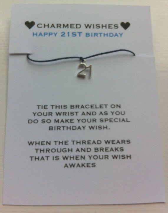 21st birthday bracelet | Wish bracelet | 21st birthday gift | 21st birthday card | key to the door | Happy 21st birthday | 21st present
