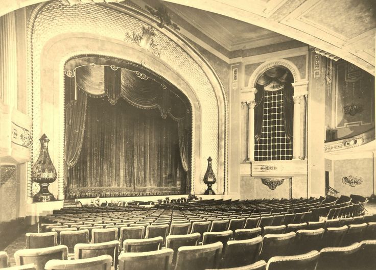 Palais Pictures, c.1930s. Downstairs auditorium (Orchestra seating) featuring original draping and decoration.